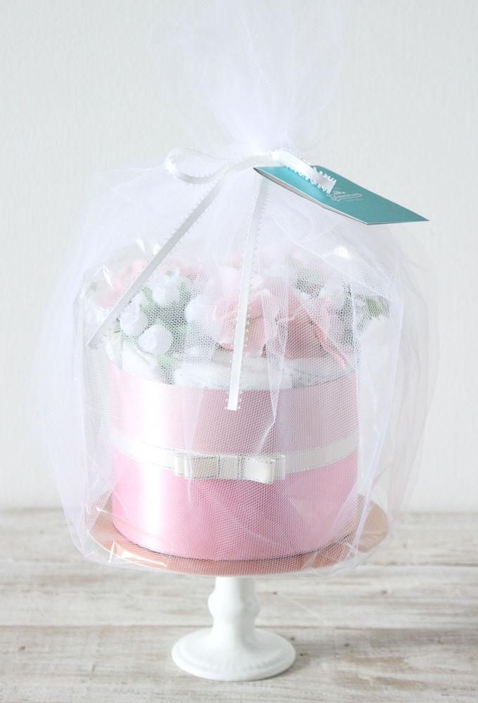 Miracolo Pink(ミラコロピンク) おむつケーキ1段ブーケなし