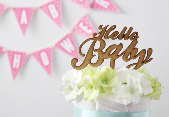 ケーキトッパー Hello Baby