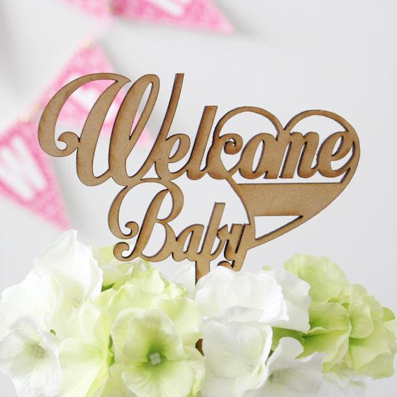 ケーキトッパー Welcome Baby