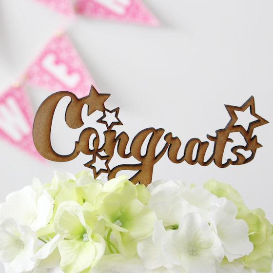 ケーキトッパー Congrats