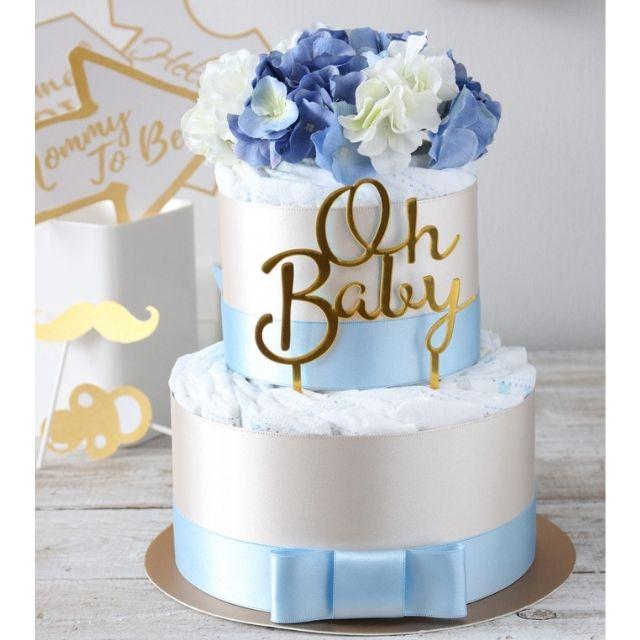 おむつケーキ ブルー