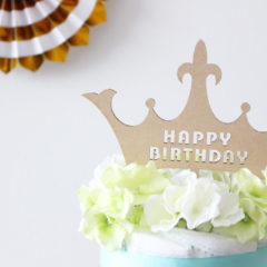 ケーキトッパーHAPPY BIRTHDAY 王冠