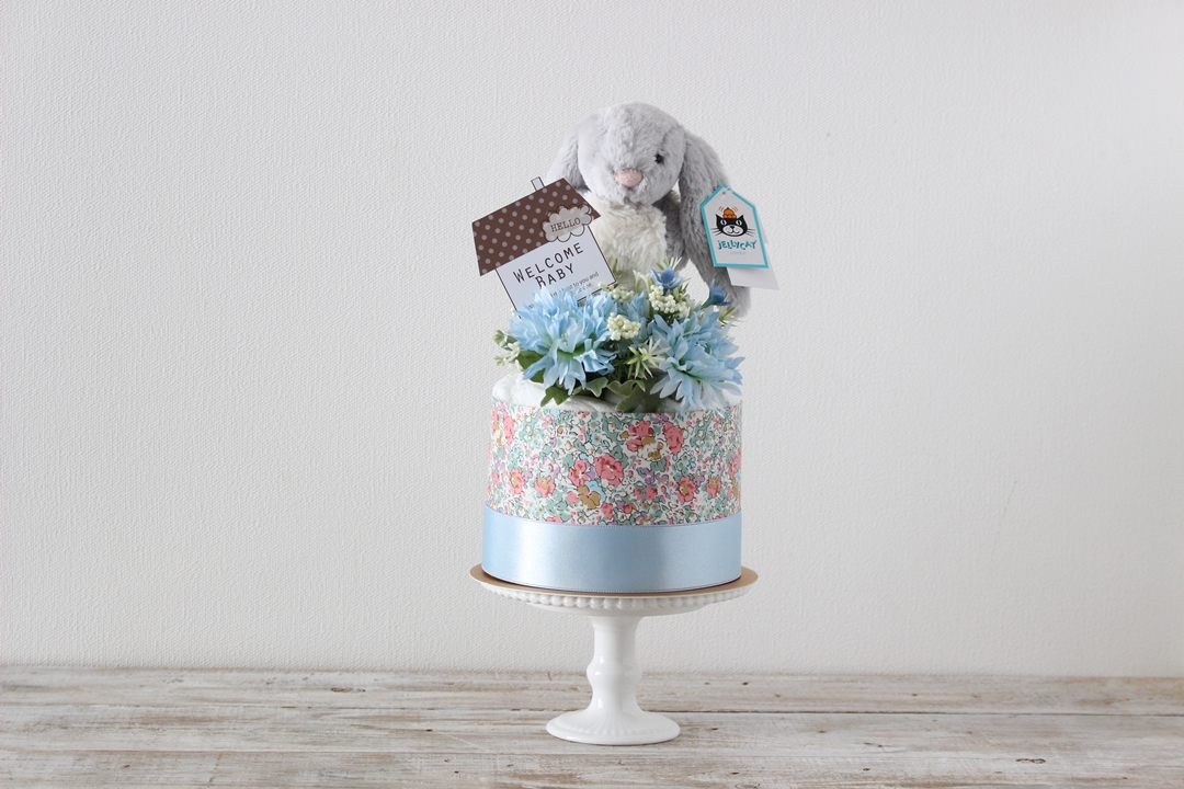 Bashful Snow Bunny small Blue
