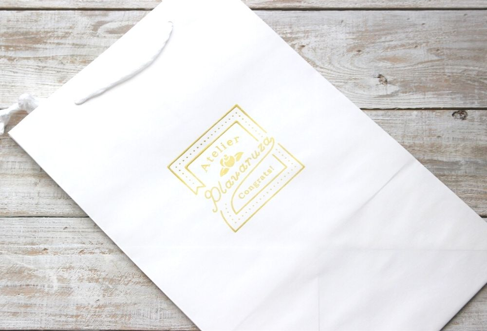 【オプション】ロゴ入りオリジナル手提げ袋(2段ダイパーケーキ用)