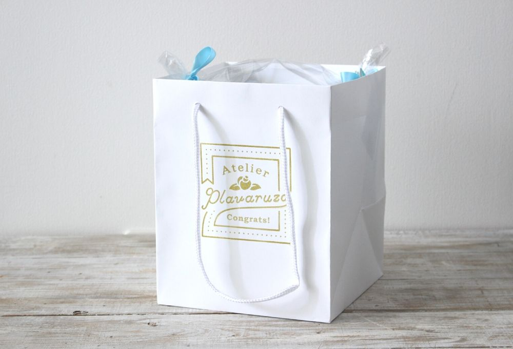 【オプション】ロゴ入りオリジナル手提げ袋(1段ダイパーケーキ用)