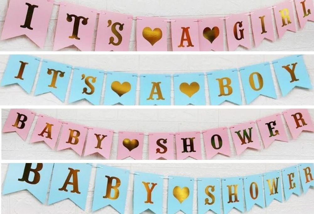 【パーティアイテム】ガーランド BABY SHOWERに使える パーティー デコレーション4種類